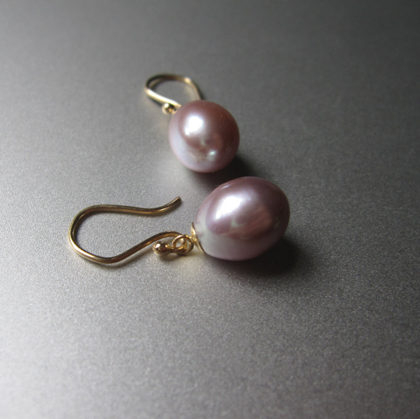 pink pearl drops solid 14k gold earrings3