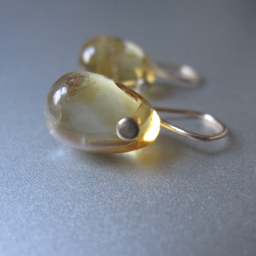 small citrine jelly bean drop solid 14k gold earrings2