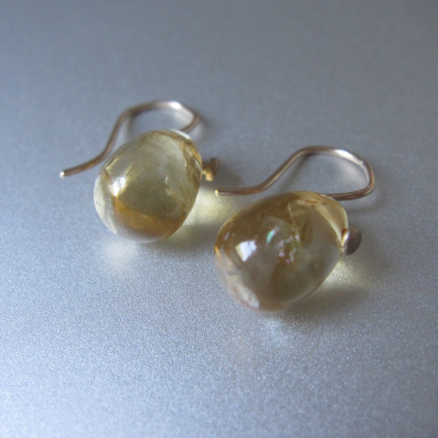 small citrine jelly bean drop solid 14k gold earrings3