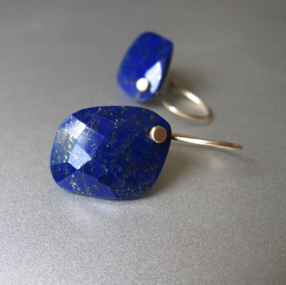 Lapis Lazuli Drops Solid 14k Gold Earrings