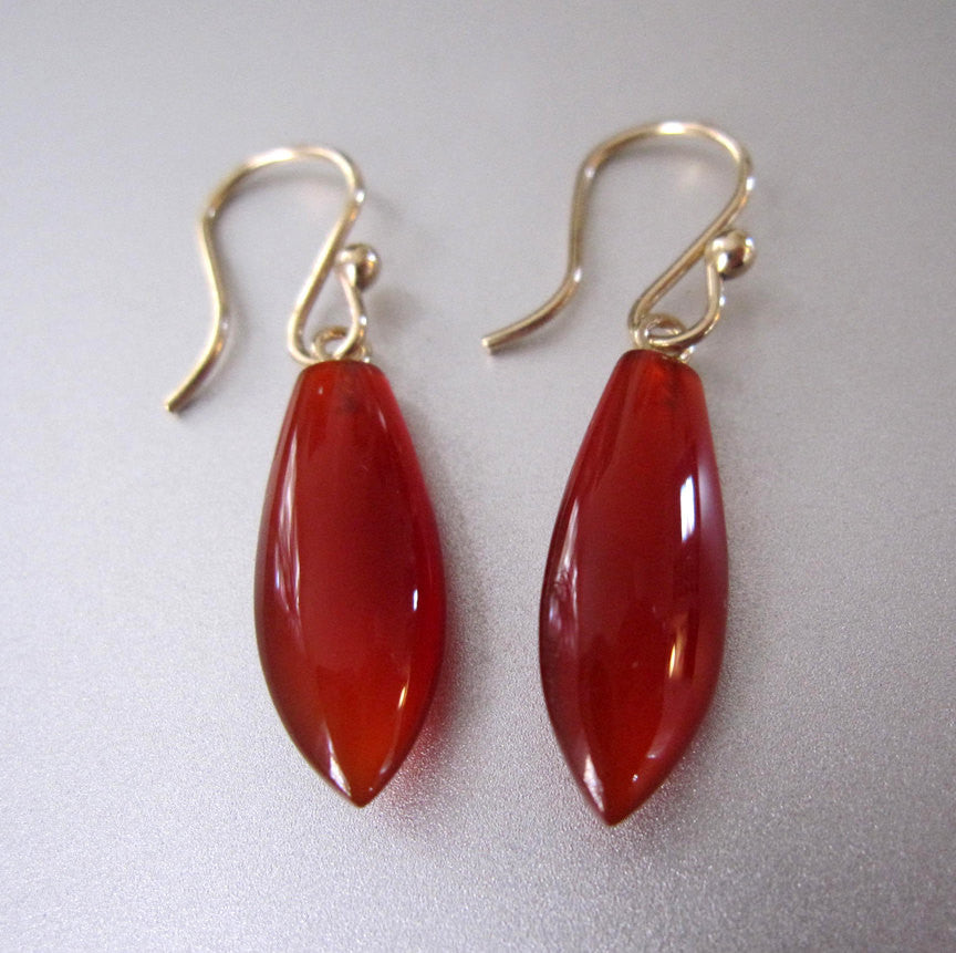 pointed carnelian drop solid 14k gold earrings2