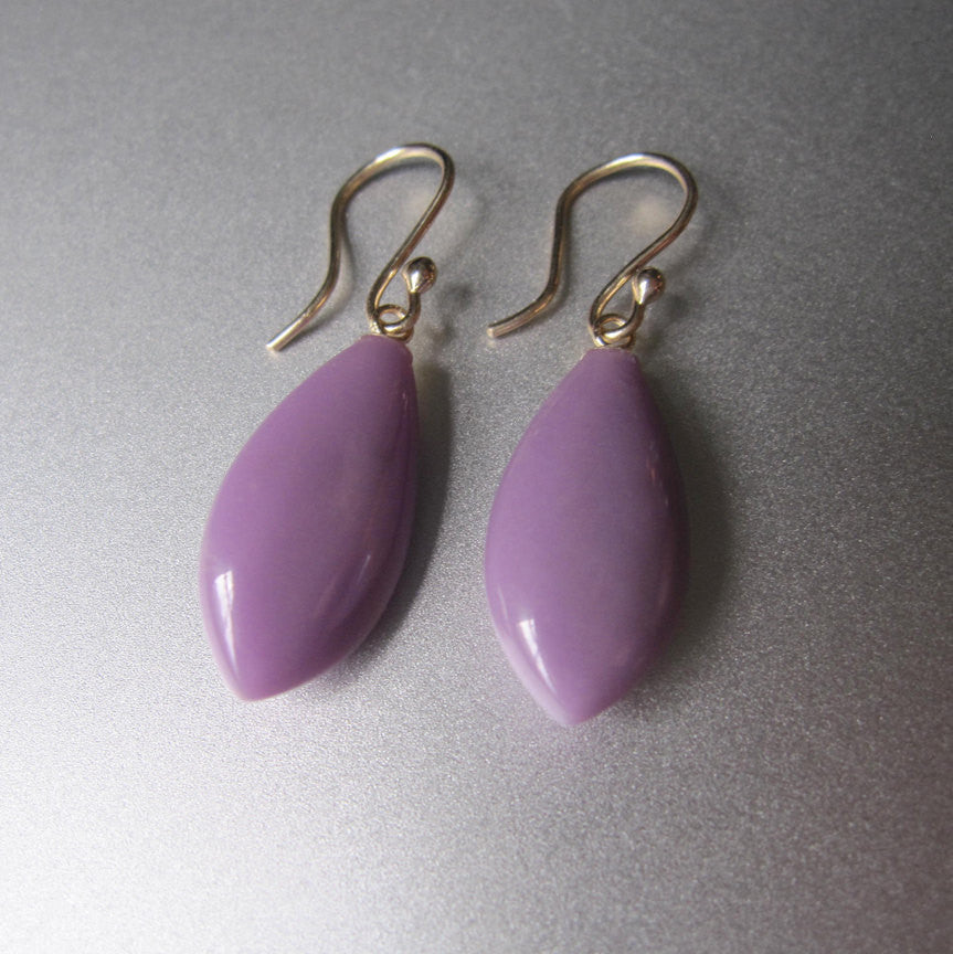 Phosphosiderite Drops Solid 14k Gold Earrings