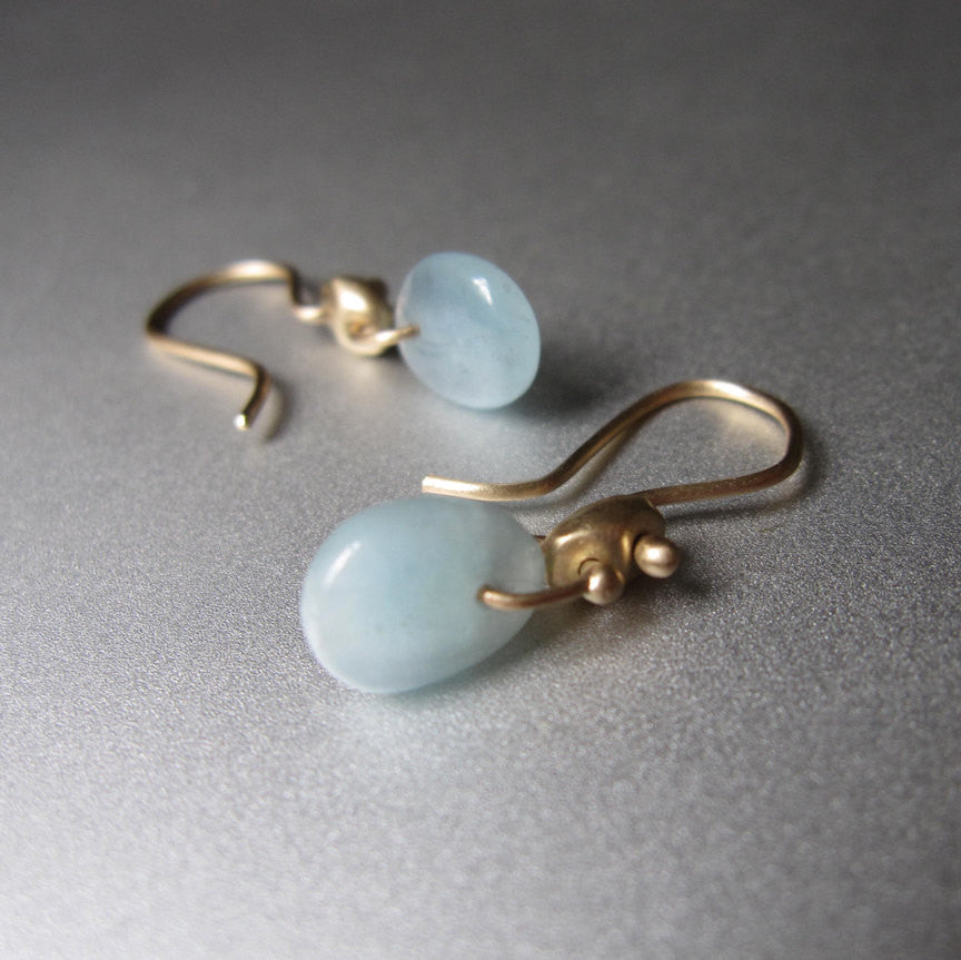 solid 14k gold marine link earrings with aquamarine2