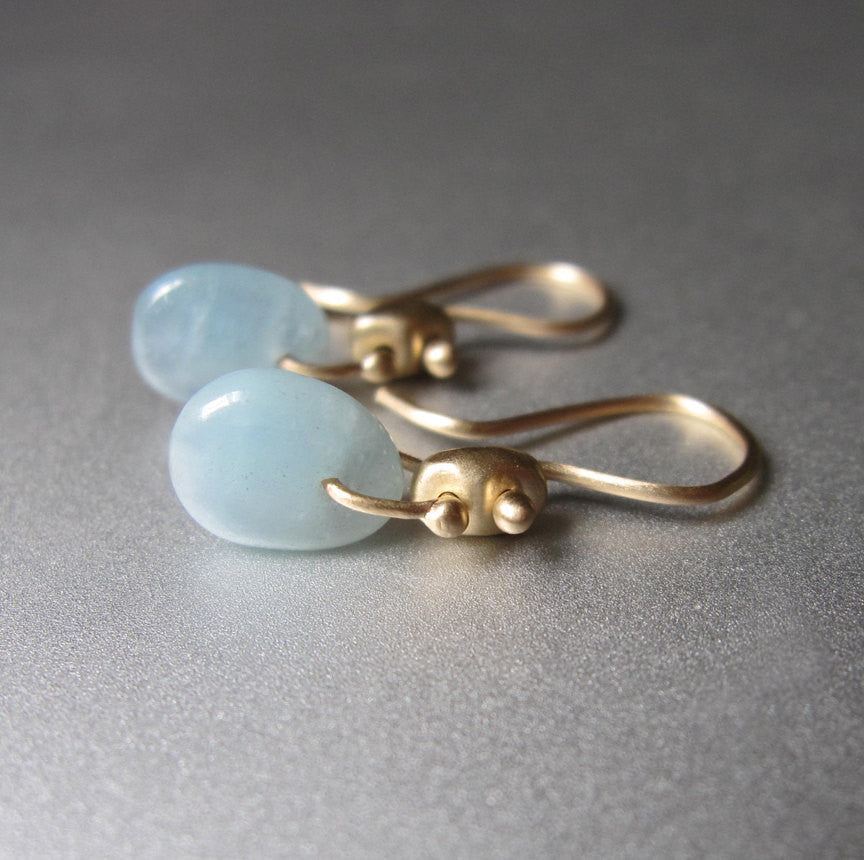 solid 14k gold marine link earrings with aquamarine3