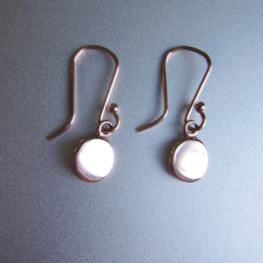Rose Gold Discs Solid 14k Gold Earrings