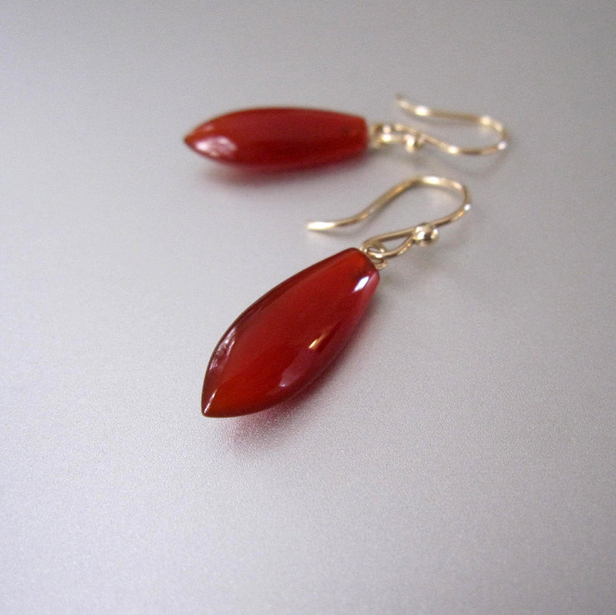 pointed carnelian drop solid 14k gold earrings4