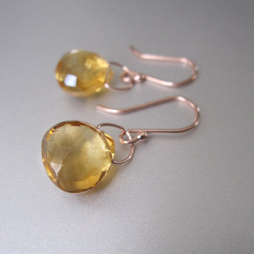 faceted ctrine drops solid 14k rose gold earrings4
