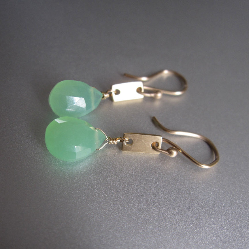 chrysoprase drops solid 14k gold rectangle link earrings3