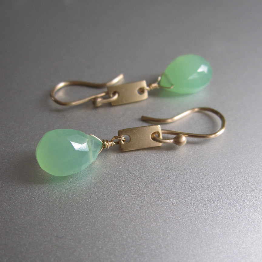 chrysoprase drops solid 14k gold rectangle link earrings4