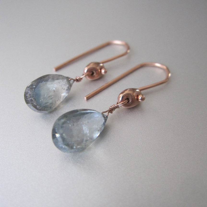 light blue green sapphire drops solid 14k rose gold earrings3