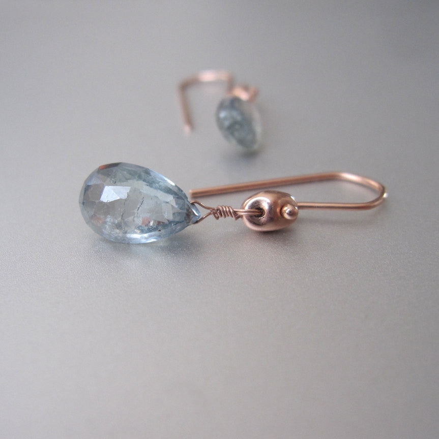 light blue green sapphire drops solid 14k rose gold earrings4