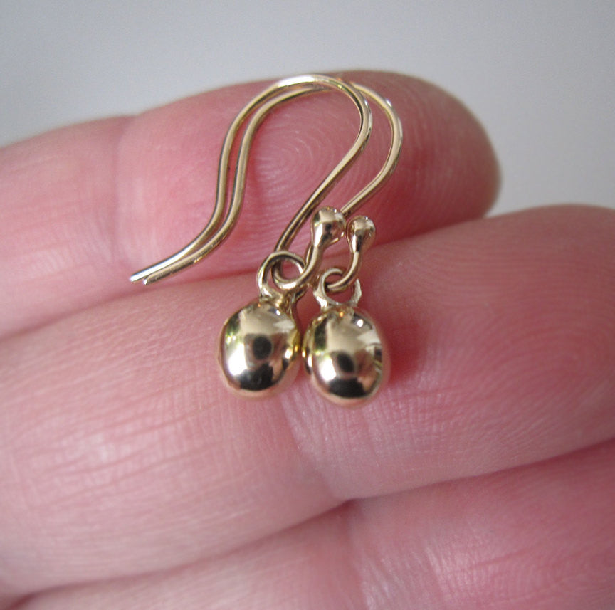 Solid Gold Earrings 14k Gold Drop Earrings
