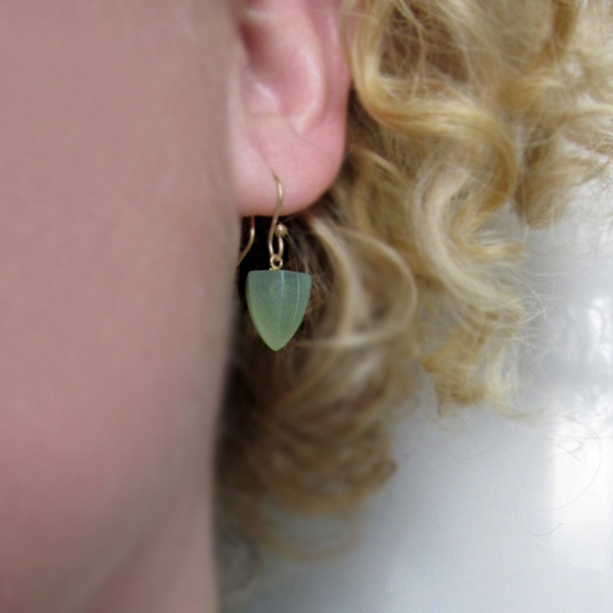 serpentine pointed faceted drops solid 14k gold earrings8