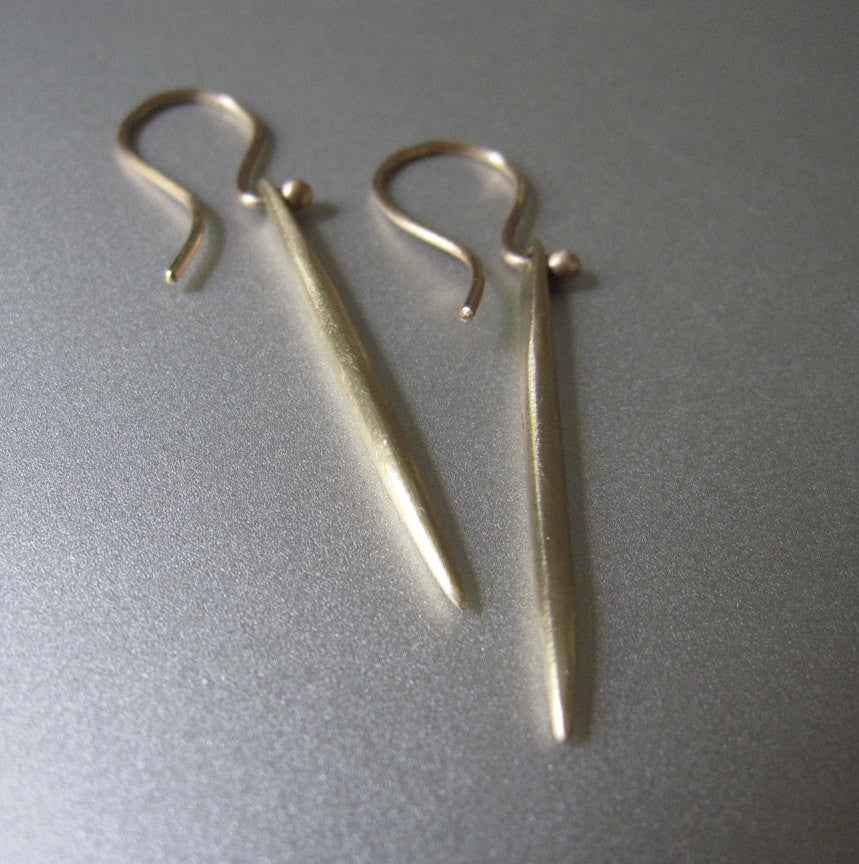 Solid 14k Gold Spike Earrings