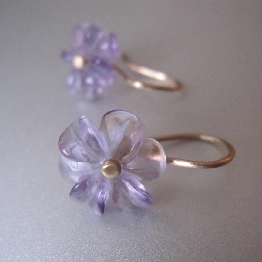 amethyst flower drops solid 14k gold earrings4