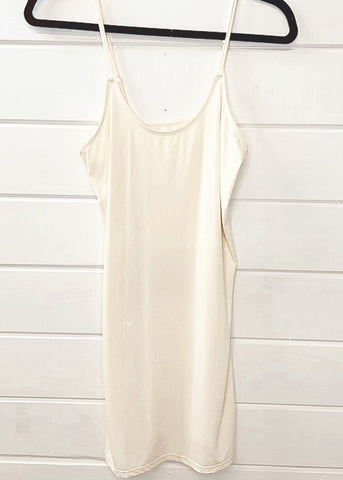 Ribbed Fitted Dress *BONE