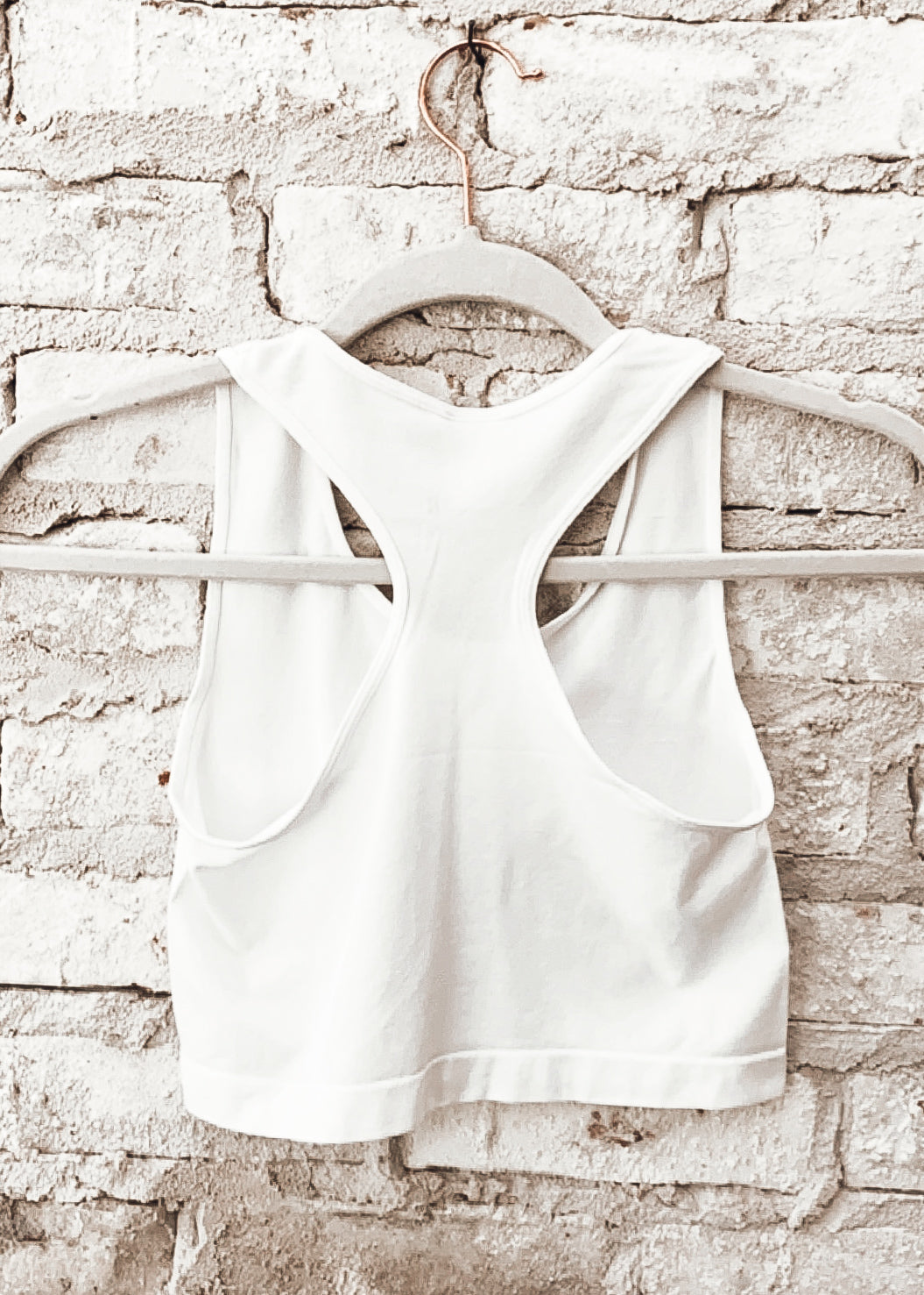 Racer Back Crop Bralette *WHITE