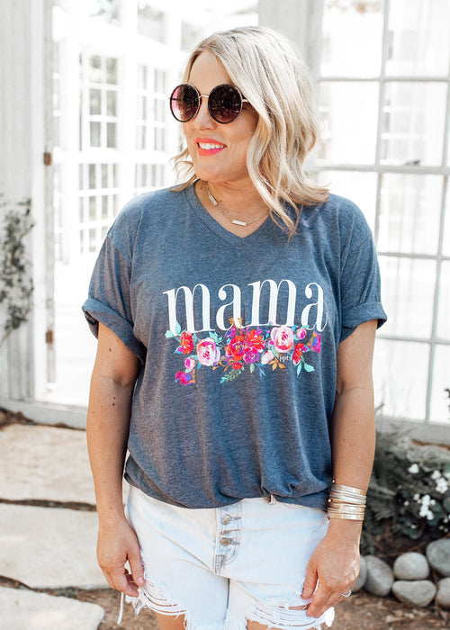 Mama Floral Tee (S-3X)