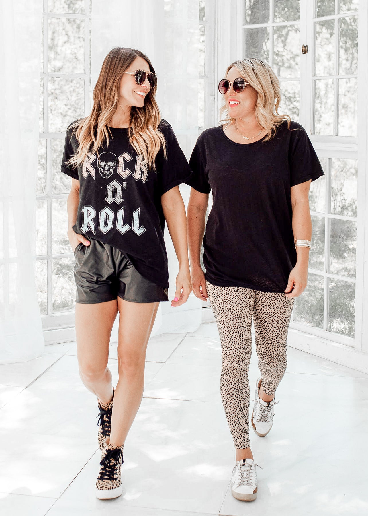 Rock N' Roll Skull Top (S-3X) *BLACK