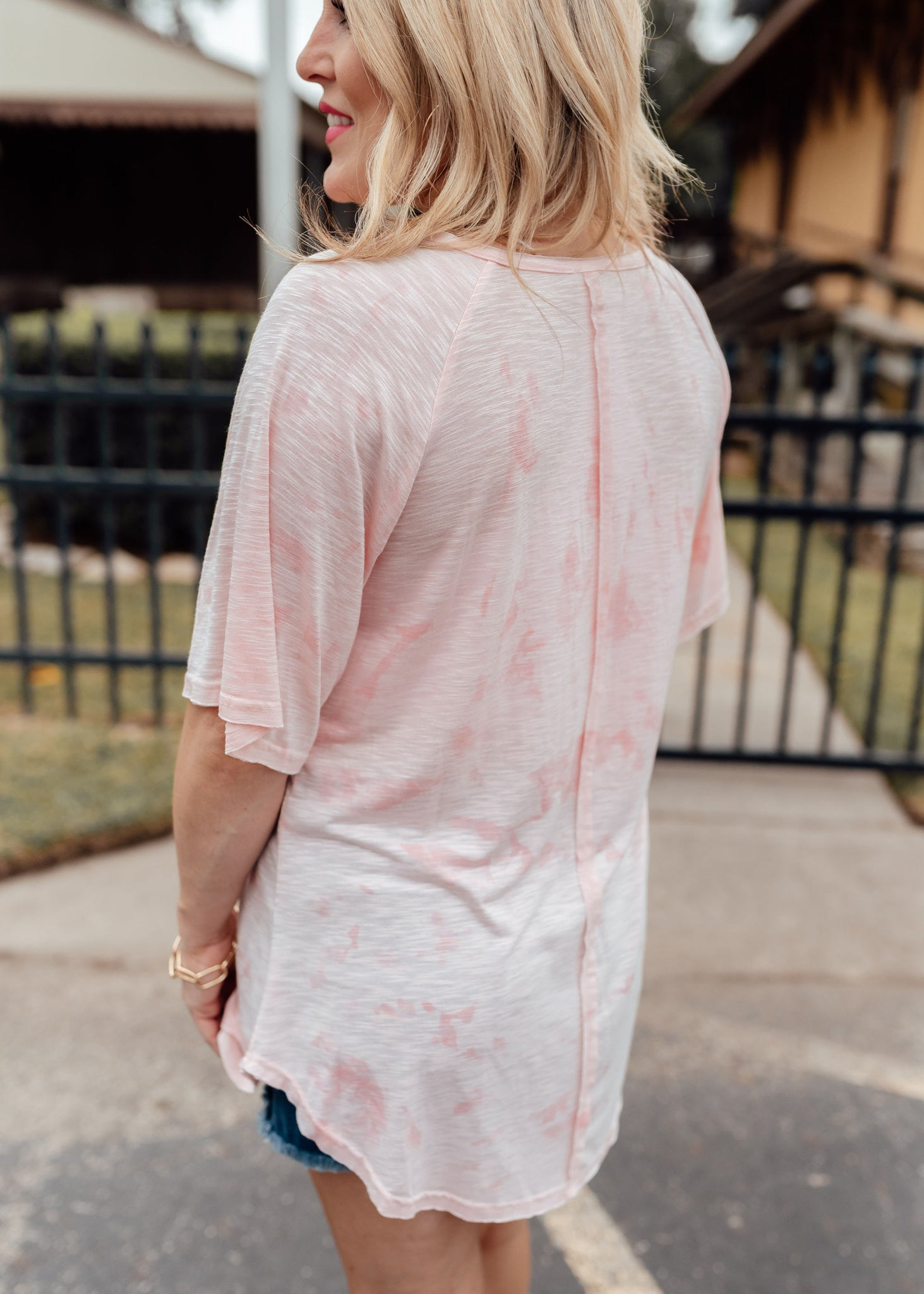 Peach Sherbet Tunic Top (CAN FIT XL)
