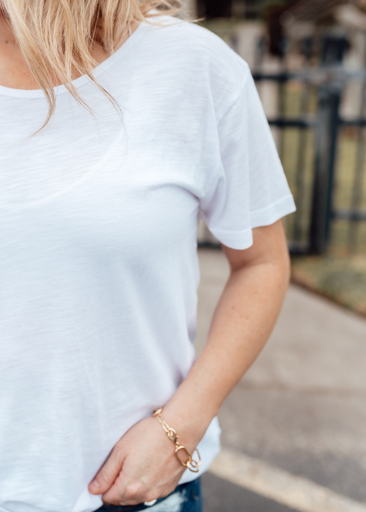 Basic Slub Top *WHITE