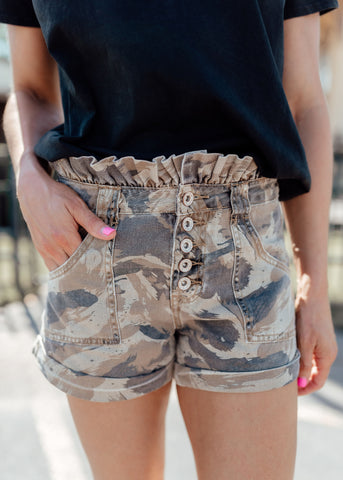 Starla Button KanCan Shorts (S-XL)