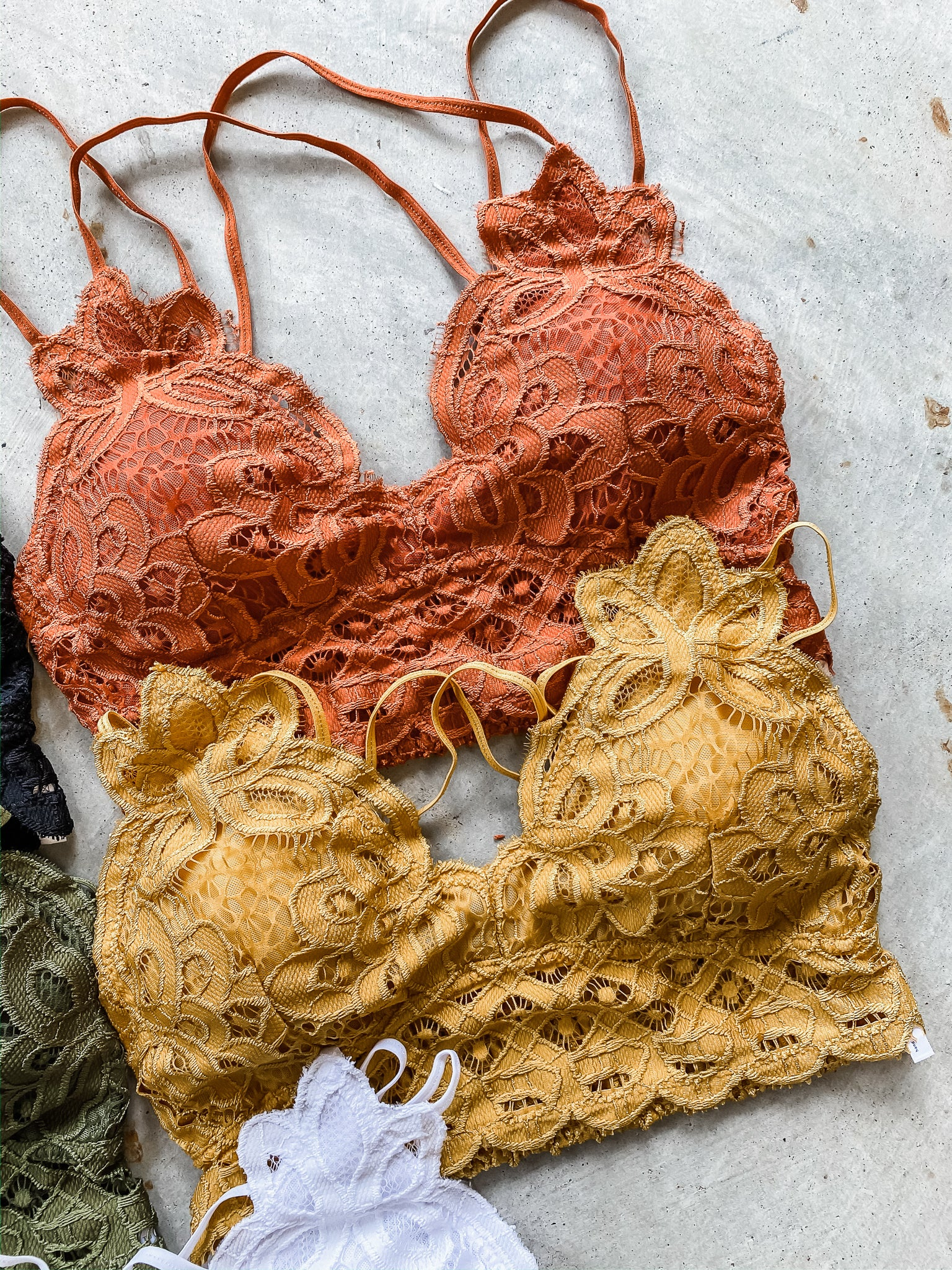 Crochet Lace Bralette (5 COLORS!)