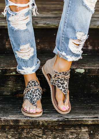 Animal Ankle Bootie Leopard ( 5.5-11 )