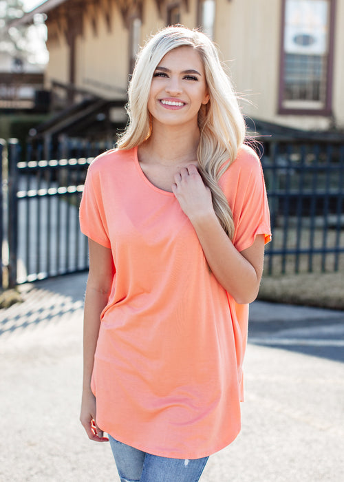 Oversized Basic Tunic (S-XL) *CORAL