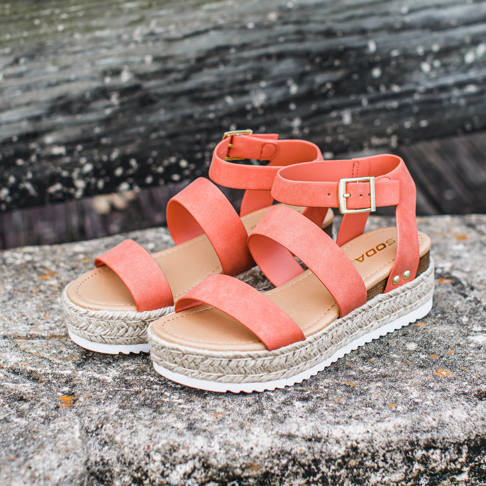 Bryce Espadrille Shoe (5.5-10) **CORAL