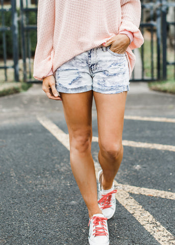 Rebel Mid Rise Boyfriend Shorts (S-L )