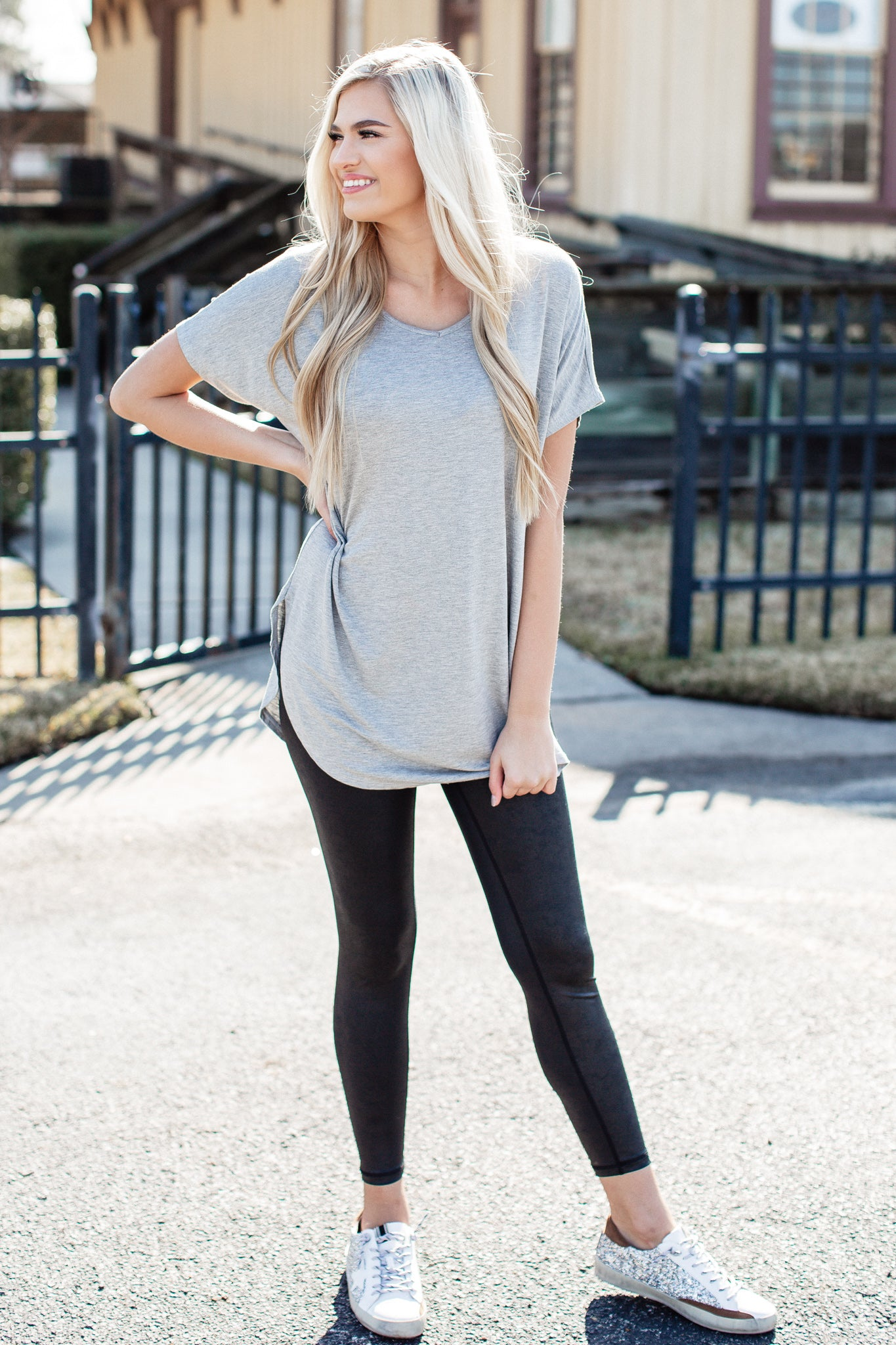 Oversized Basic Tunic (S-XL) *HEATHER GREY