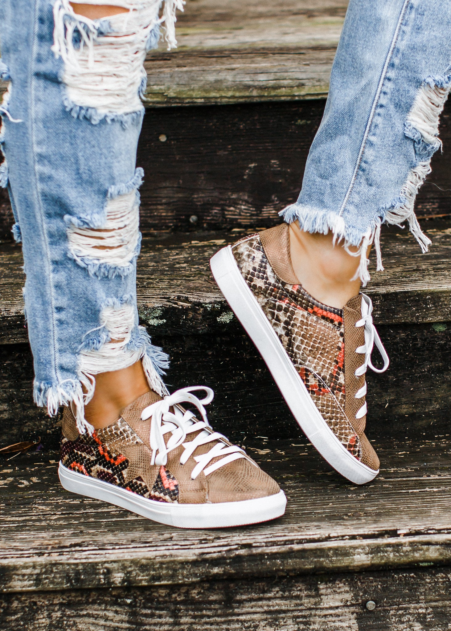 Coco Brown Snake Star Shoe (5.5-10)