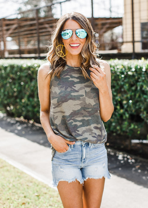 Vivian Sleeveless Top *Camo
