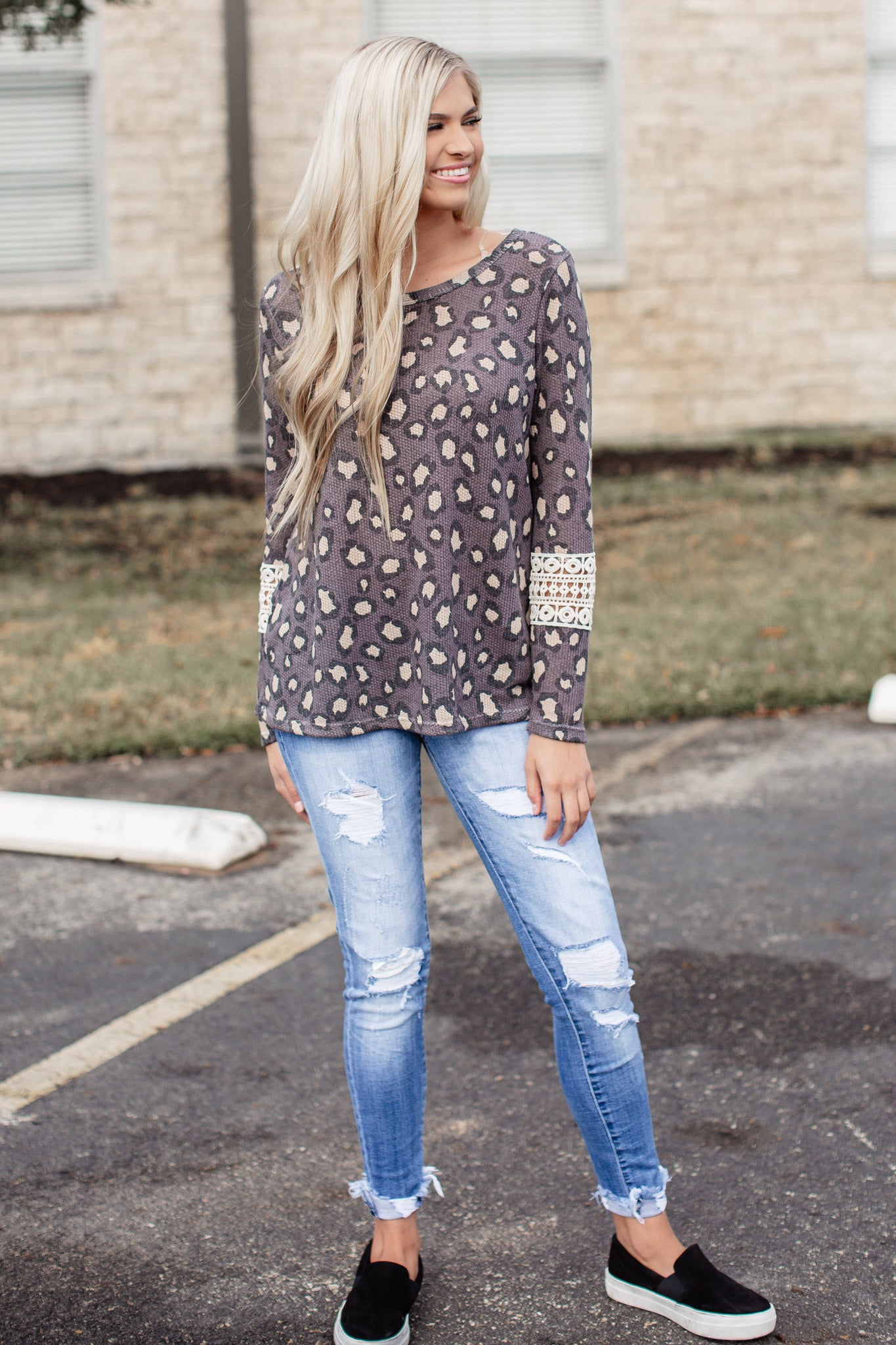Leopard Crochet Top