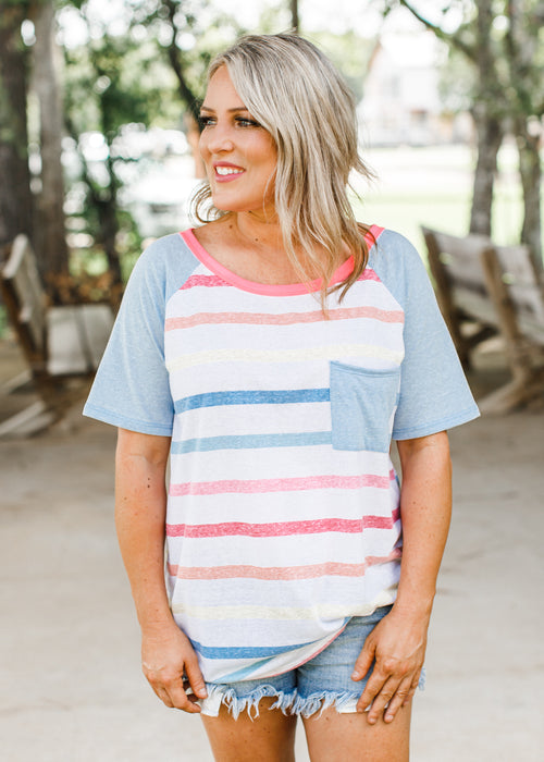 Coming For You Vintage Stripe Top (S-XL)