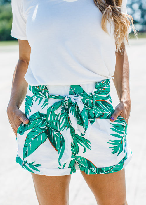Tropical Leaf Shorts