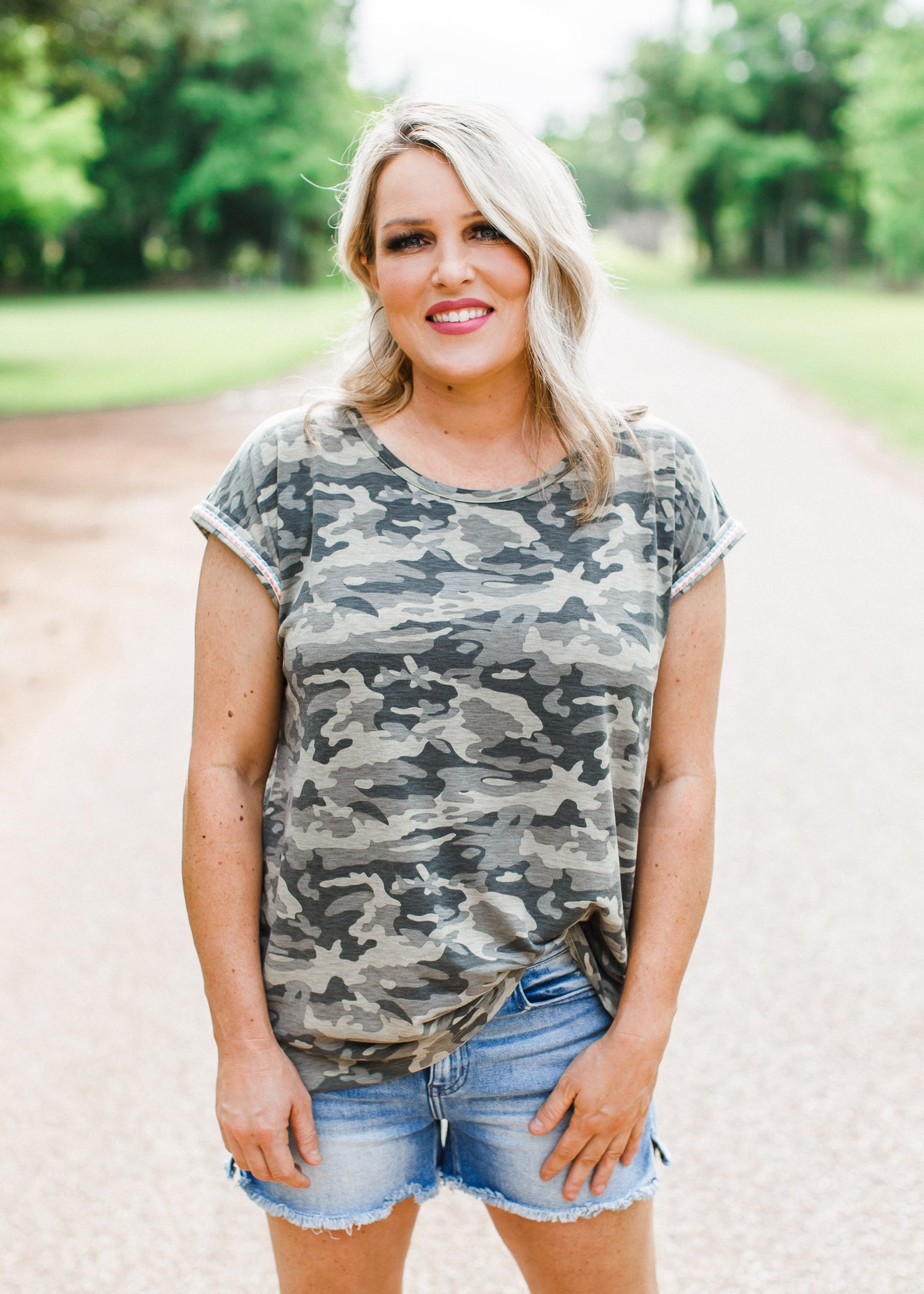 Stephanie Camo Top
