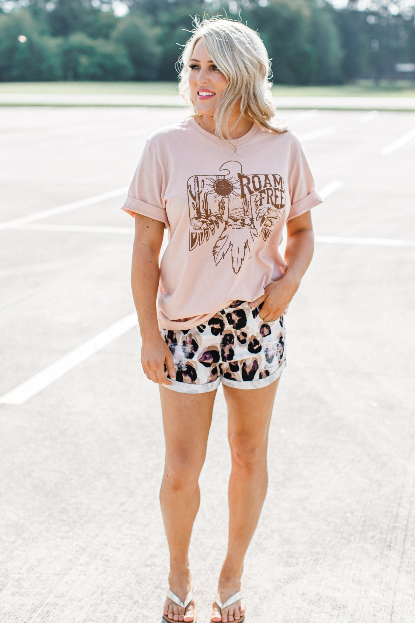 Roam Free Tee (S-2X) *HEATHER PEACH