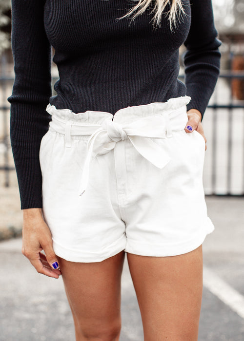 Paperbag Shorts *WHITE