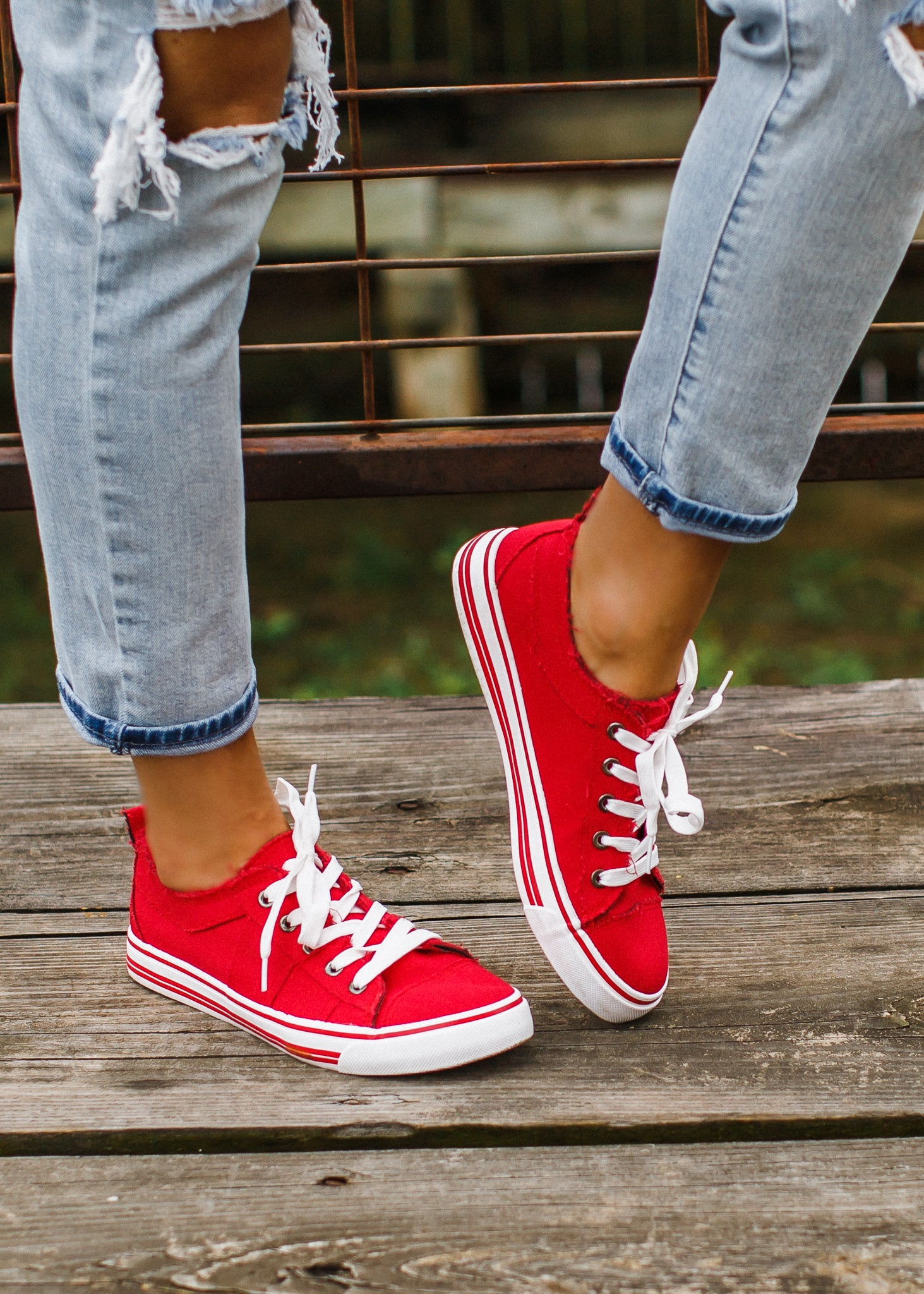 Red Lace Up Shoe (5-11)