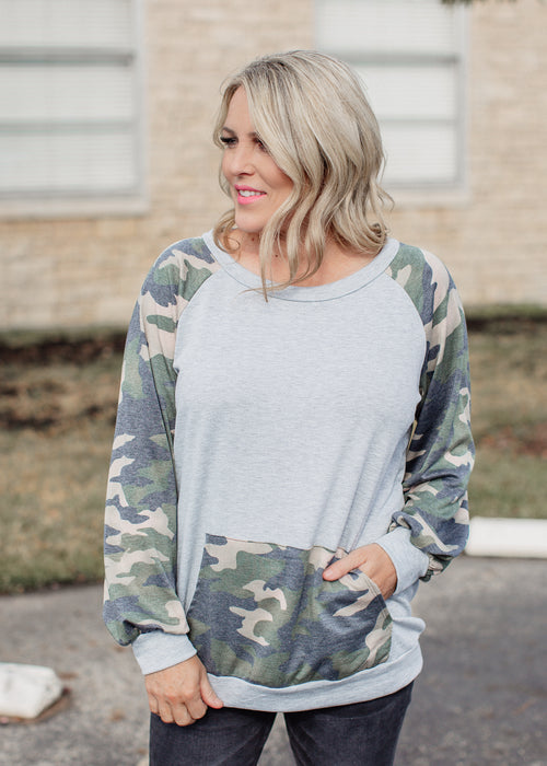 Jimmy Camo Top (S-3X)