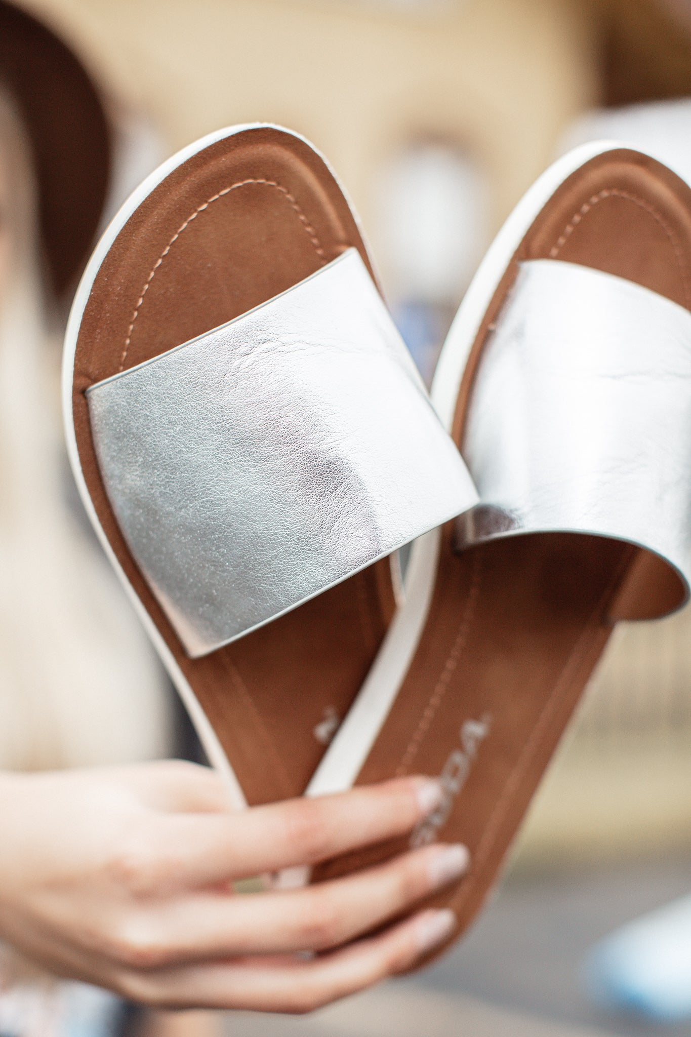 Efron One Strap Sandal (5.5-10) *SILVER