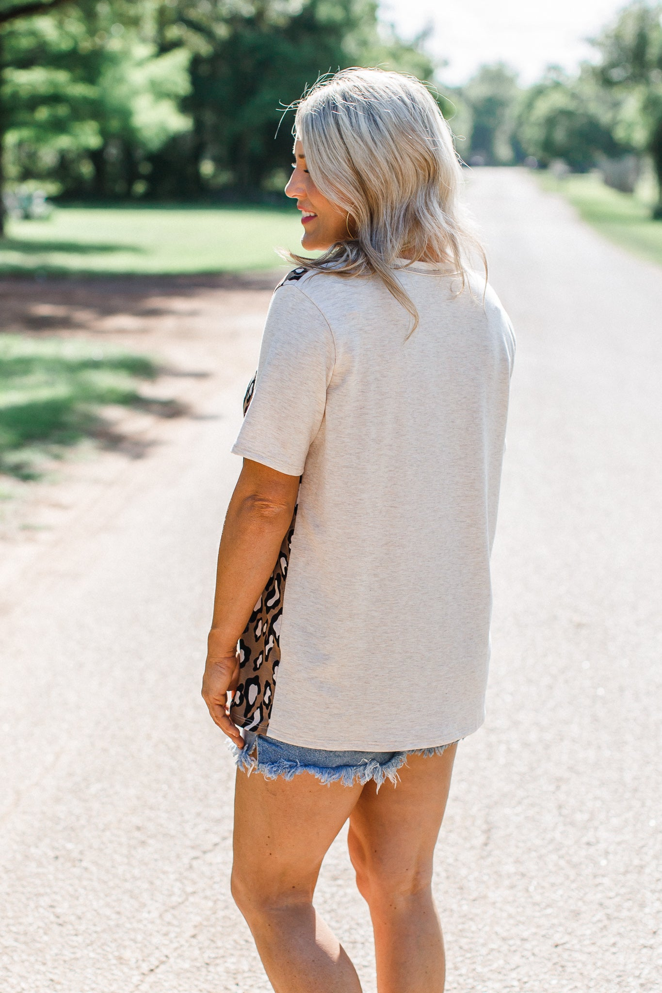 Two Sides Animal Print Top