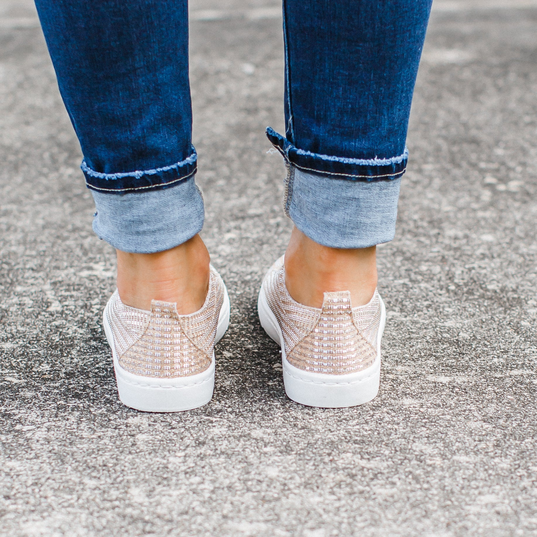 Rose Gold Shine Shoes (6-11)