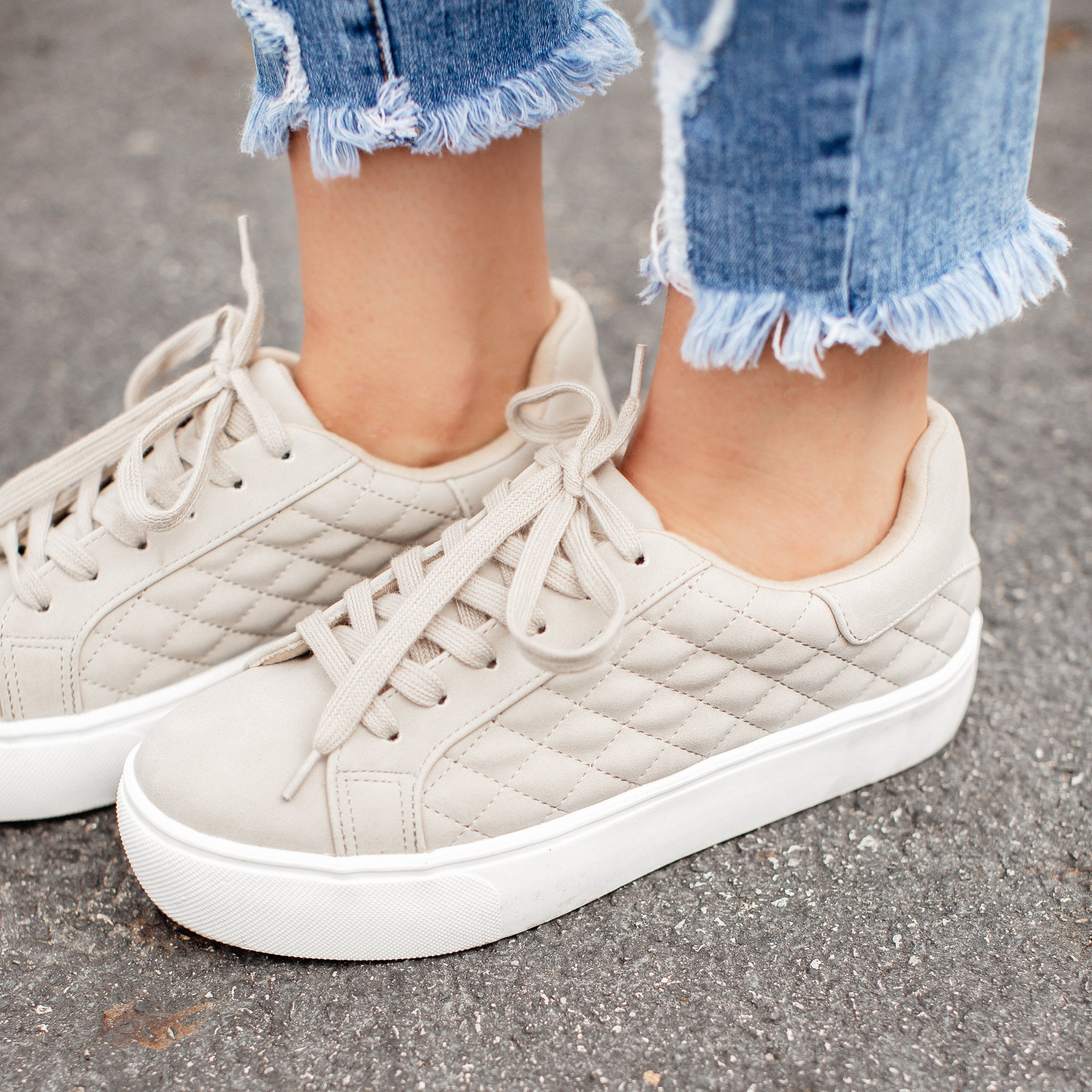 Huffman Quilted Shoes (5.5-11) *SAND