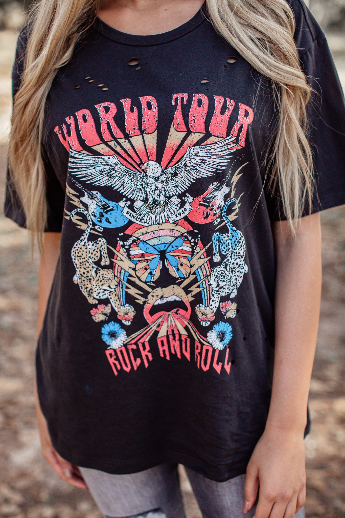 World Tour Rock And Roll Top *BLACK (S-3X)