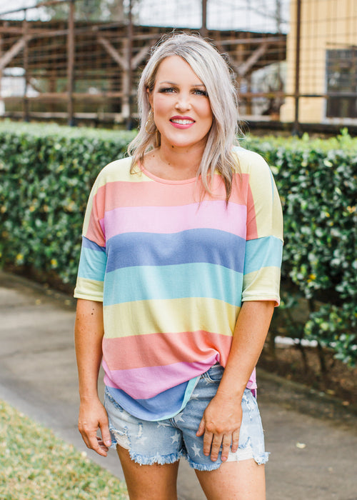 Lisa Multi Stripe Top (S-XL)