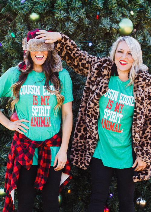 Cousin Eddie Is My Spirit Animal Tee ( S-2X )