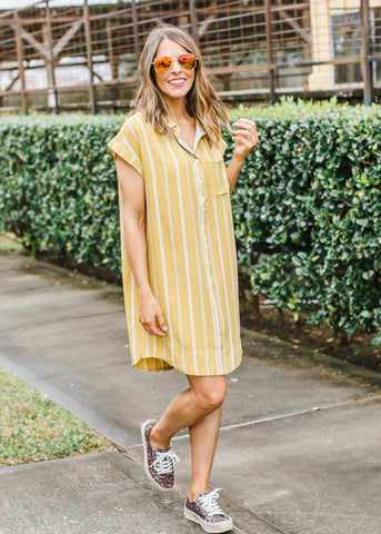 Long Leopard Bolt T-Shirt Dress